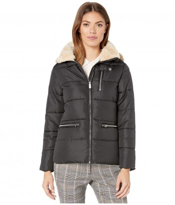 Geaca U.S. Polo Assn. Faux Fur Hooded
