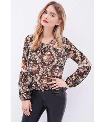 Camasa Floral Forever 21
