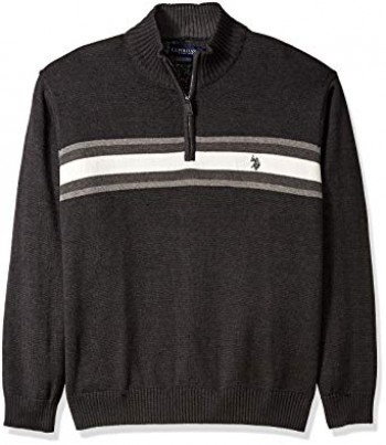 Pulover Men's Quarter-Zip US Polo Assn Black